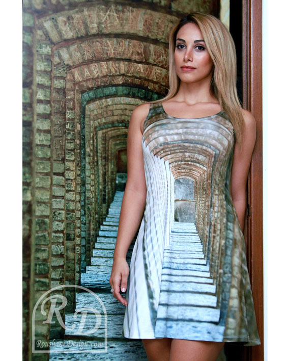 Roushani Design Isfahan tunnel flow dress