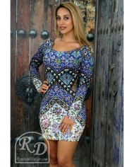 ISFAHAN CERAMIC BODYFIT DRESS – LONG SLEEVE