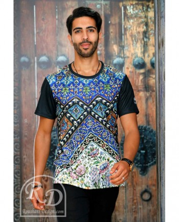 Roushani Design Isfahan ceramic loose t-shirt