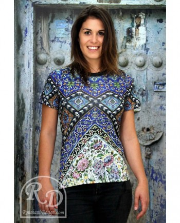 Roushani Design Isfahan ceramic body fit t-shirt